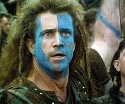 So the Scots didn't wear make-up like modern sports fans?