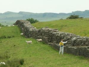 Hadrian's Wall. Note how low to the ground the remains are